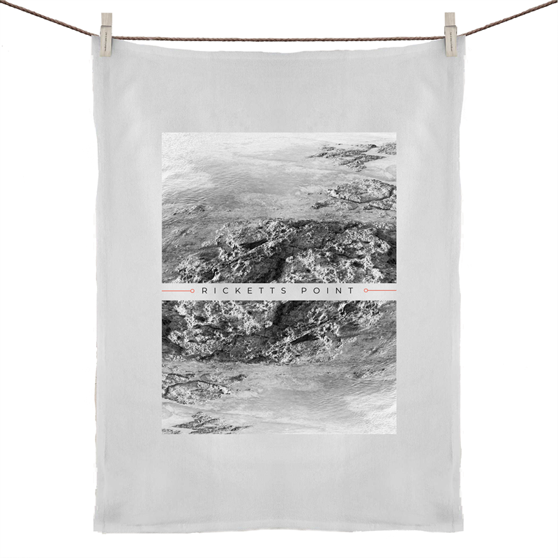 Bayside Luxe - Ricketts Point Tea Towel. - Baysideluxe