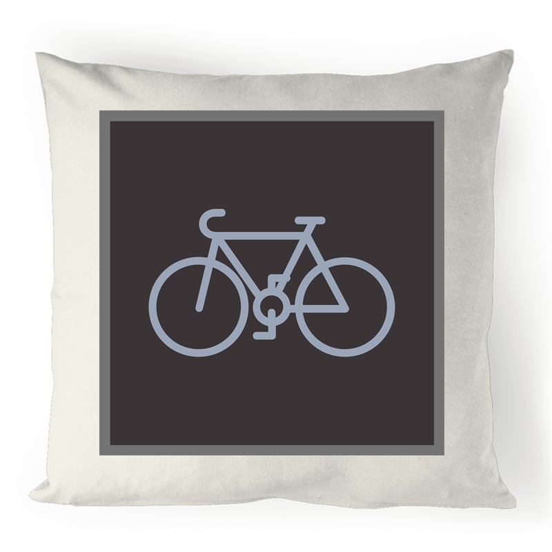 Bayside Cycle - Grey Bike - 100% Linen Cushion Cover - Baysideluxe