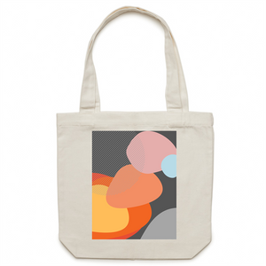 Bayside Luxe - Mid Century Modern - Pebbles at the Beach - Canvas Tote Bag - Baysideluxe