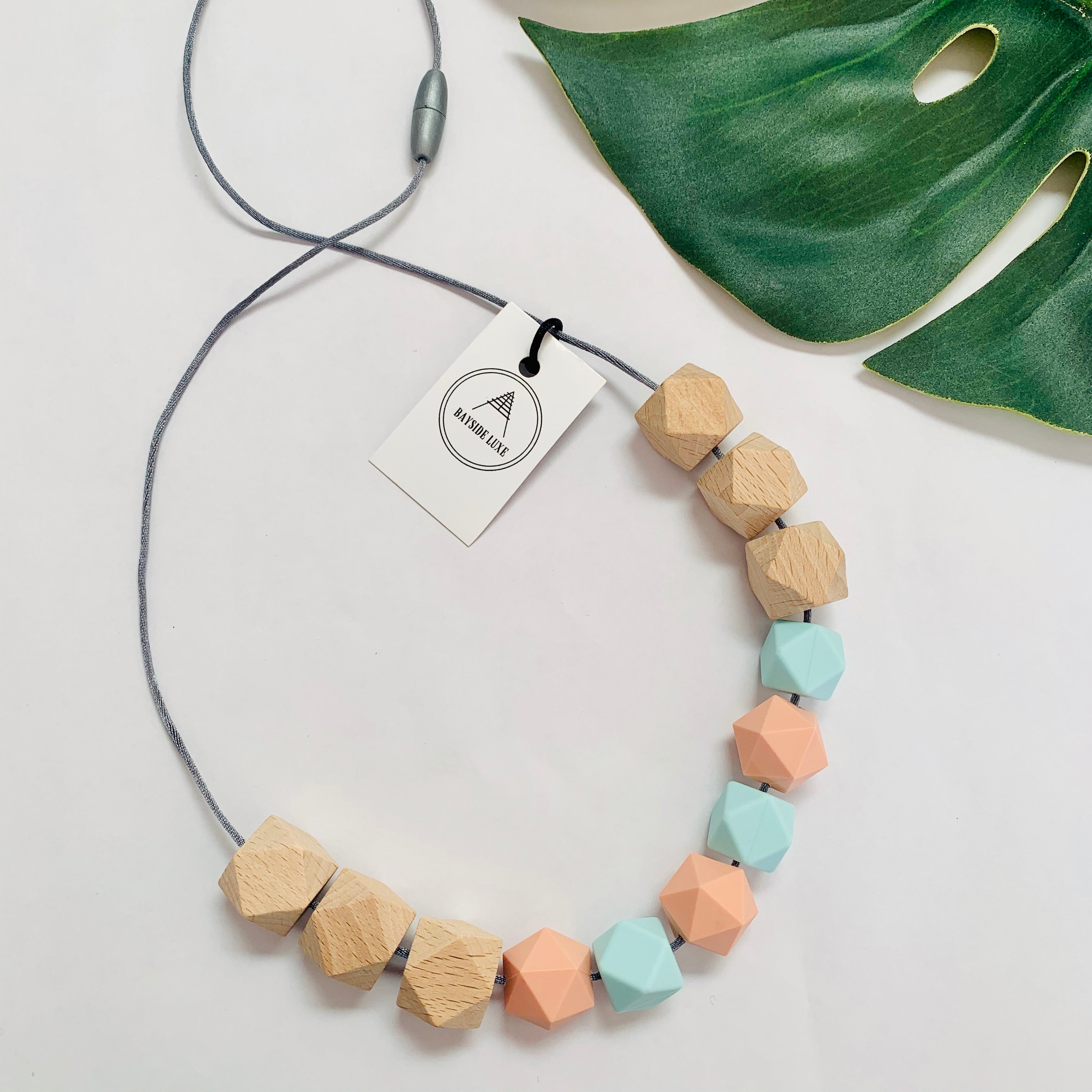 Bayside Jewellery - Wooden it be Nice Necklace and Bangle Set - Baysideluxe