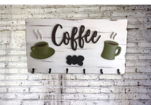Load image into Gallery viewer, Coffee Sign Wood - Carved 3d Hand Made Sign | 5g Designs - 5g Designs