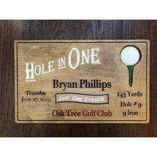 Load image into Gallery viewer, Hole in One Personalized Wood Carving - Golf Gift | 5g Designs - 5g Designs
