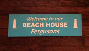 Personalized Beach House Sign - Custom Pool Signs | 5g Designs - 5g Designs