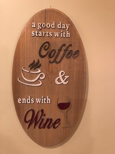 Coffee and Wine Sign - Kitchen Decor | 5g Designs - 5g Designs