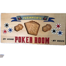 Load image into Gallery viewer, Poker Game Room Sign Personalized - Poker Sign | 5g Designs - 5g Designs