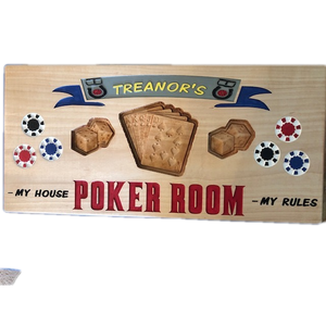 Poker Game Room Sign Personalized - Poker Sign | 5g Designs - 5g Designs