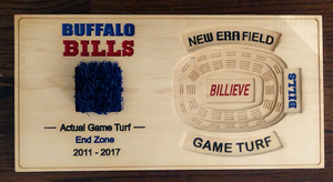 Buffalo Bills Turf - New Era Field Turf - Bills Custom Plaque | 5g Designs - 5g Designs
