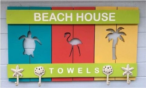 Beach Towel Rack - Beach House Decor - Pool Towel Hanger | 5g Designs - 5g Designs