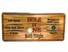Load image into Gallery viewer, Hole in One Plaque - Golf Gift - Golf Award | 5g Designs - 5g Designs