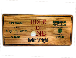 Hole in One Plaque - Golf Gift - Golf Award | 5g Designs - 5g Designs