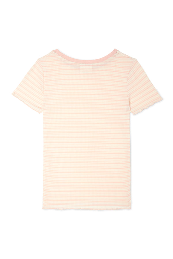 Striped Rib Basic T-Shirt