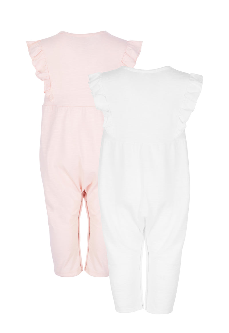 Pack of 2 Baby Ruffle Jumpsuit