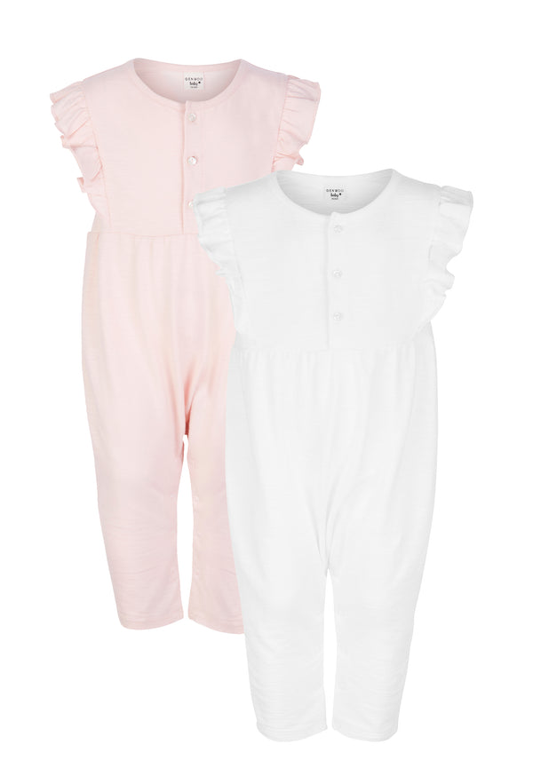 Gen Woo Baby Girls Pack of 2 Ruffle Jumpsuit from The Jersey Shop Singapore