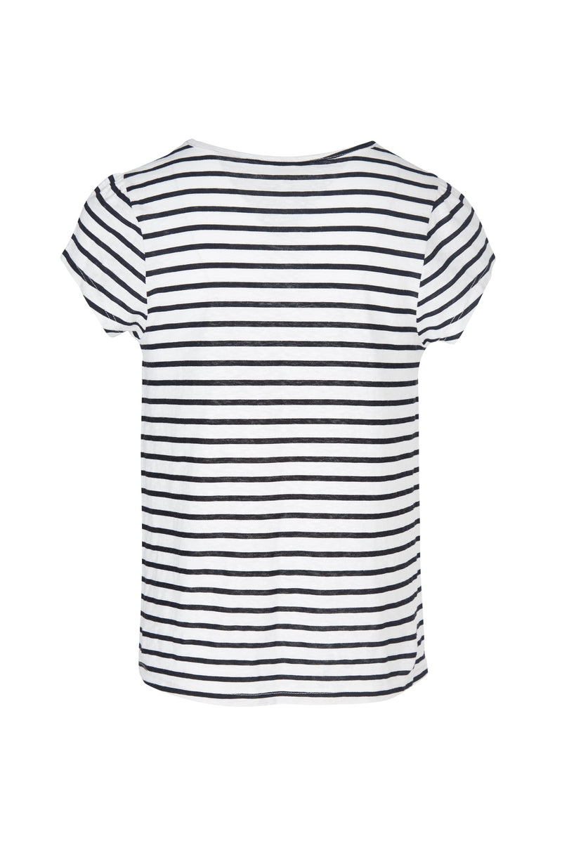 Striped Tie Front T-Shirt