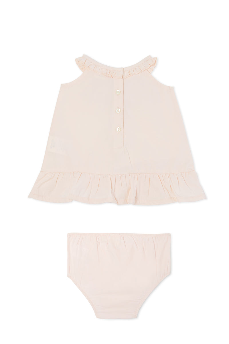 Gen Woo Baby Girls Pink Poplin 2 Piece from The Jersey Shop Singapore