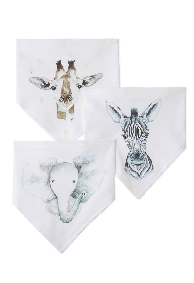 Pack of 3 Baby Triangle Dribble Bib