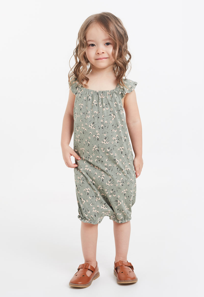 Gen Woo Baby Girl Ditsy Print Sleeveless Romper for The Jersey Shop Singapore