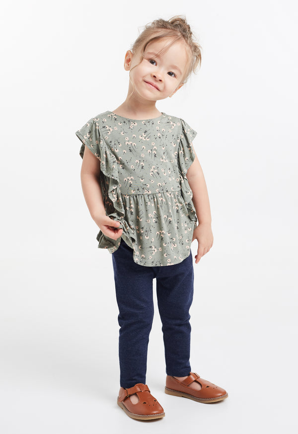 Gen Woo Baby Girls Ditsy Print Flutter Sleeves T-shirt for The Jersey Shop Singapore
