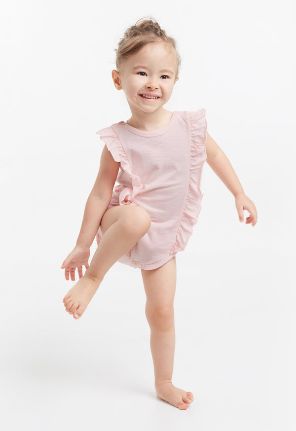 Gen Woo Baby Girls Pink Sleeveless Baby-grow for The Jersey Shop Singapore
