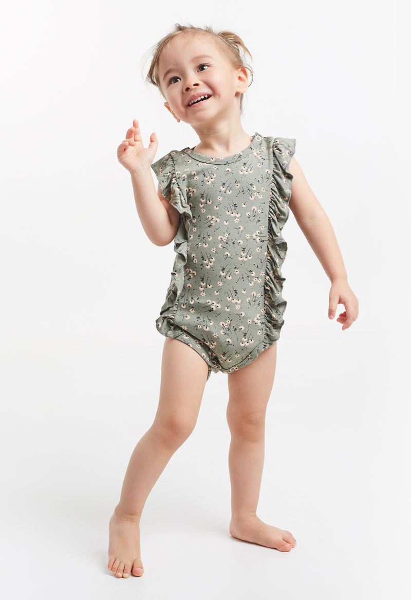 Gen Woo Ditsy Print Baby-grow with Side Snaps for The Jersey Shop Singapore