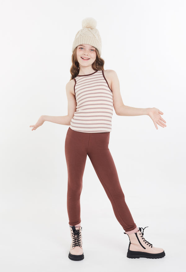 Gen Woo Tween Girls Stripe Rib-knit Tank Top from The Jersey Shop Singapore