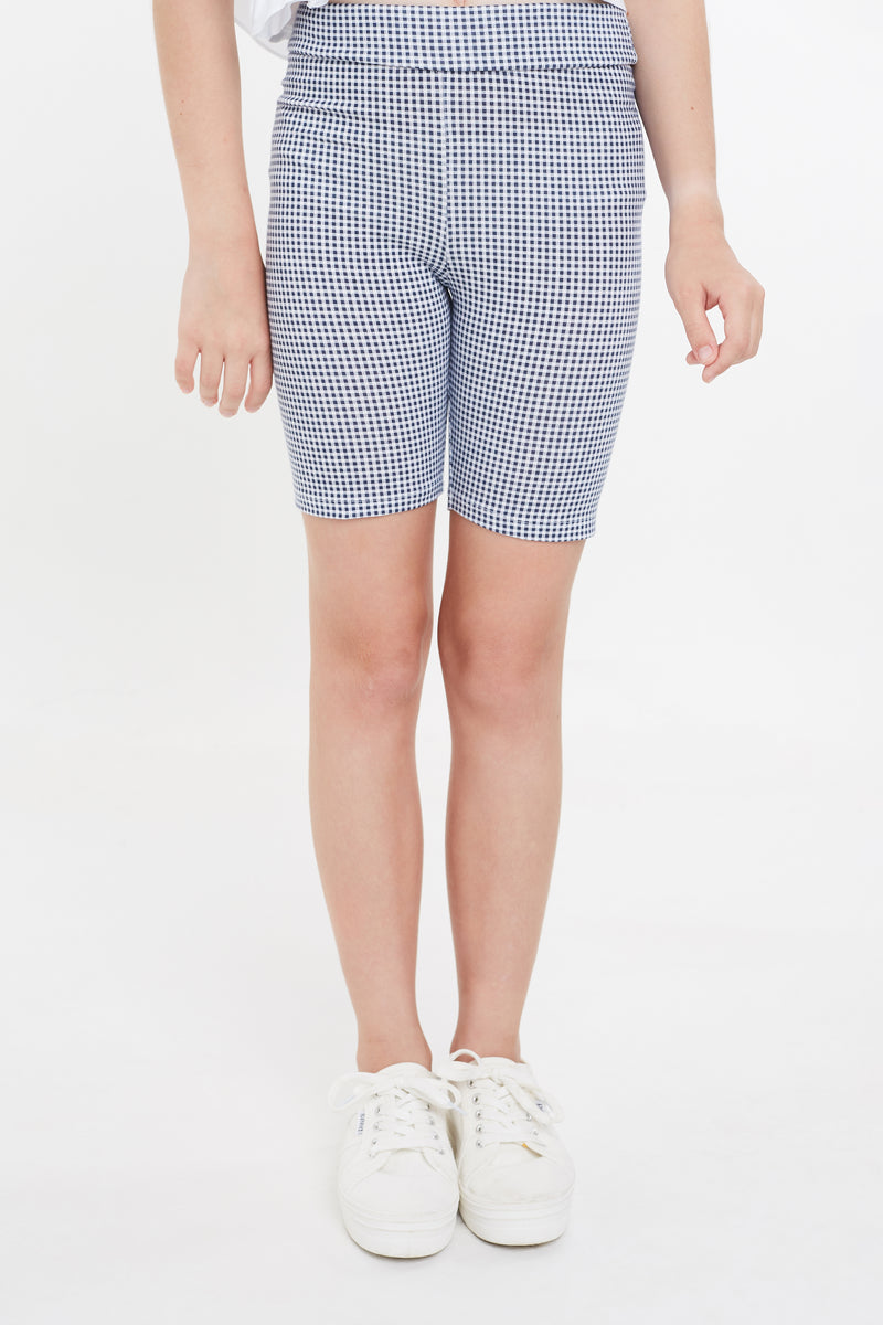 Gen Woo Tween Check Print Cycling Shorts for The Jersey Shop Singapore