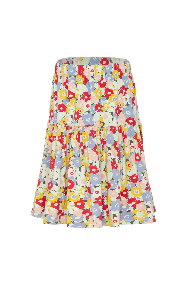 Gen Woo Girls Floral Print Skirt with Lining for The Jersey Shop Singapore