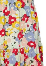 Gen Woo Girls Floral Print Tiered Skirt Fits Sizes 2 Years to 8 Years from The Jersey Shop Singapore