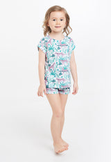 Gen Woo Nightwear Animal Print T-shirt & Shorts PJ Set for The Jersey Shop Singapore