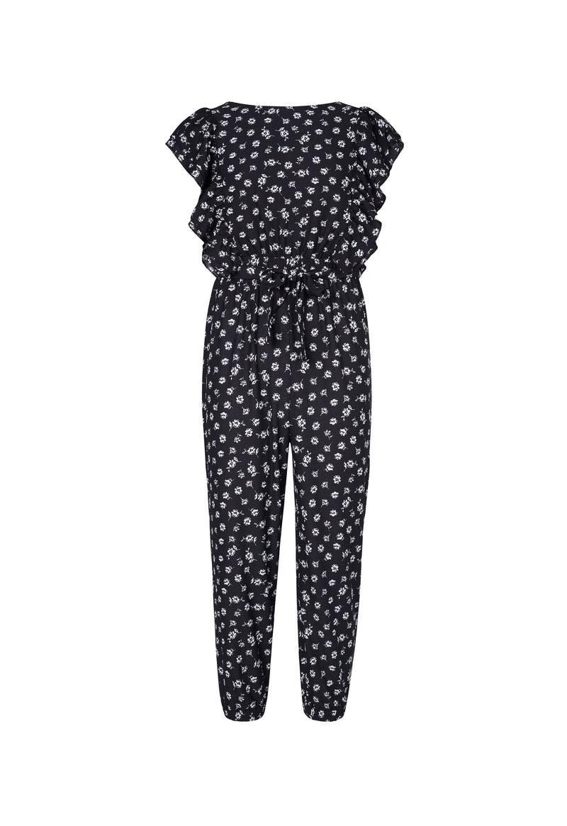 Shop for Gen Woo Tween Girls Ditsy Print Flutter Jumpsuit from The Jersey Shop Singapore