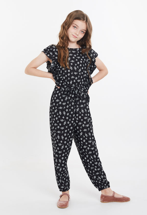 Gen Woo Tween Girls Ditsy Print Flutter Jumpsuit Fits Sizes 8 Years to 14 Years from The Jersey Shop Singapore