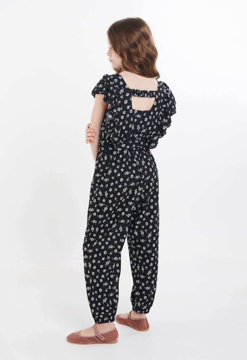 Gen Woo Tween Girls Ditsy Print Statement Jumpsuit For The Jersey Shop Singapore
