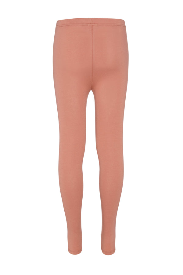 Gen Woo Tween Girls Light Mahogany Basic Legging Fits Sizes 8 Years to 14 Years from The Jersey Shop Singapore