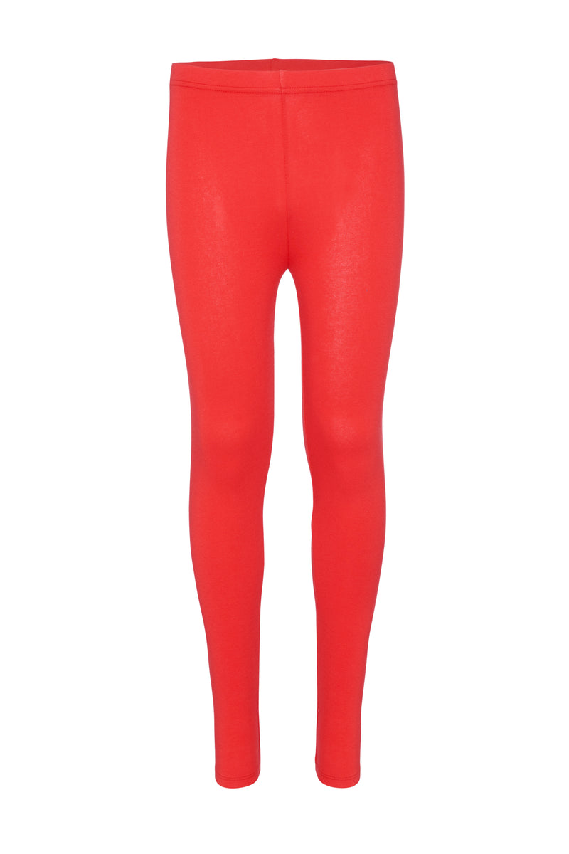 Gen Woo Tweens Girls Red Essential Leggings for The Jersey Shop Singapore