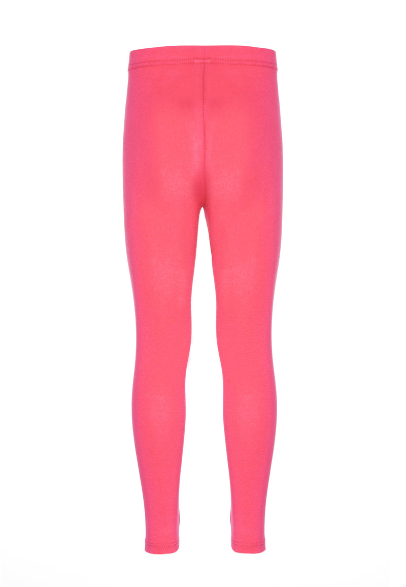 Gen Woo Girls Hot Pink Basic Plain Legging for The Jersey Shop Singapore