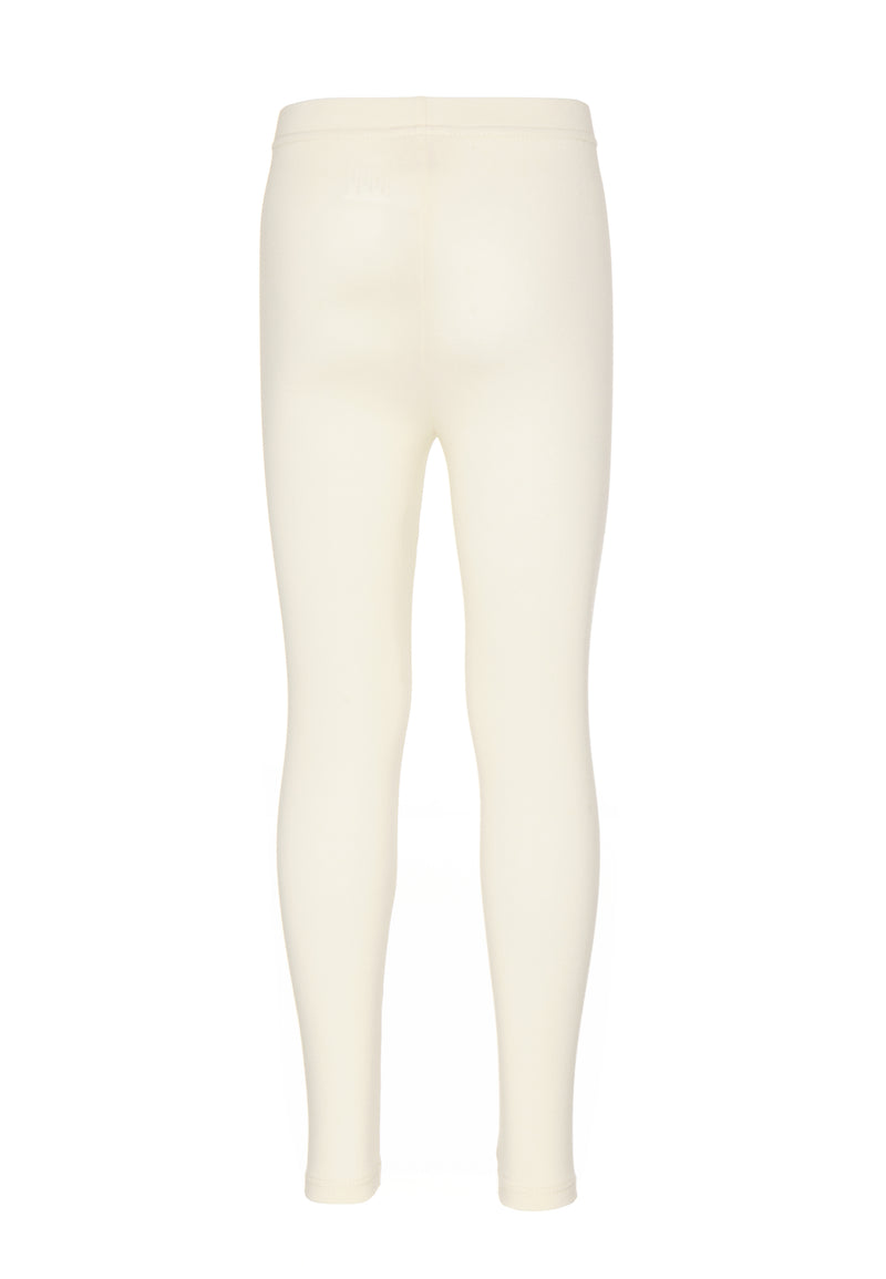 Gen Woo Girls Winter White Plain Legging Fits Sizes 2 Years 8 Years for The Jersey Shop Singapore