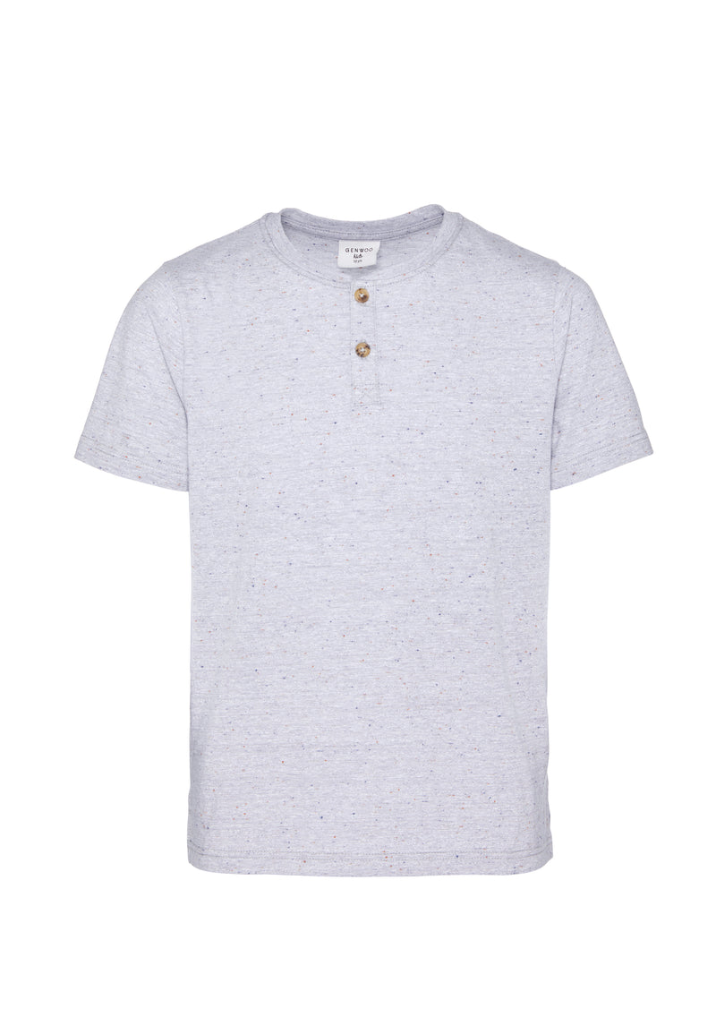 Shop for Gen Woo Boys Grey Henley T-shirt from The Jersey Shop Singapore