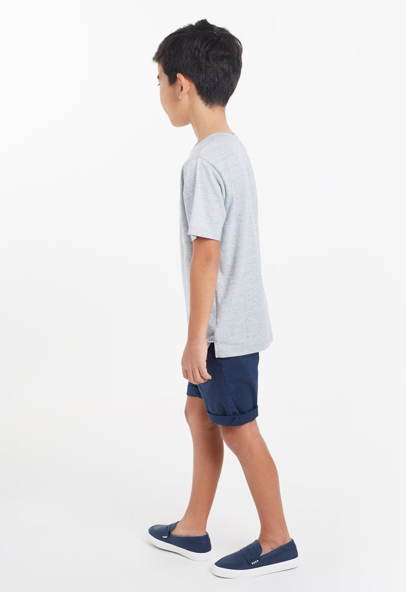Gen Woo Boys Grey Henley T-shirt Fits Sizes 4 Years to 12 Years from The Jersey Shop Singapore