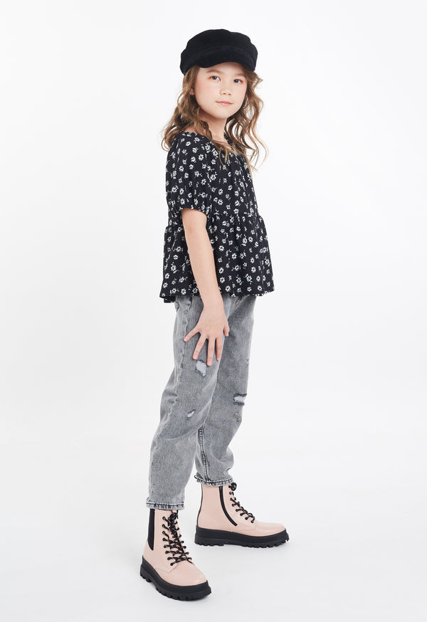 Gen Woo Tween Girls Ditsy Print Smock Top Fits Sizes 8 Years to 14 Years from The Jersey Shop Singapore