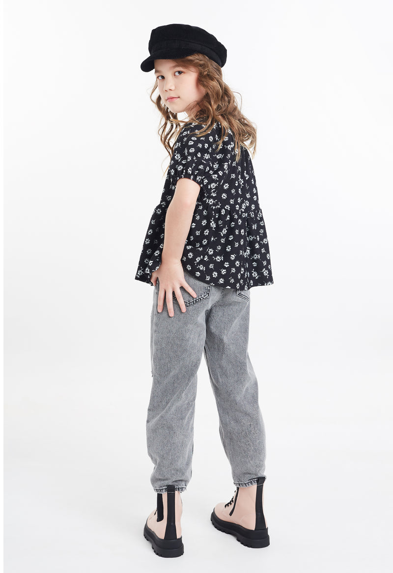 Shop for Gen Woo Tween Girls Ditsy Print Smock Top from The Jersey Shop Singapore
