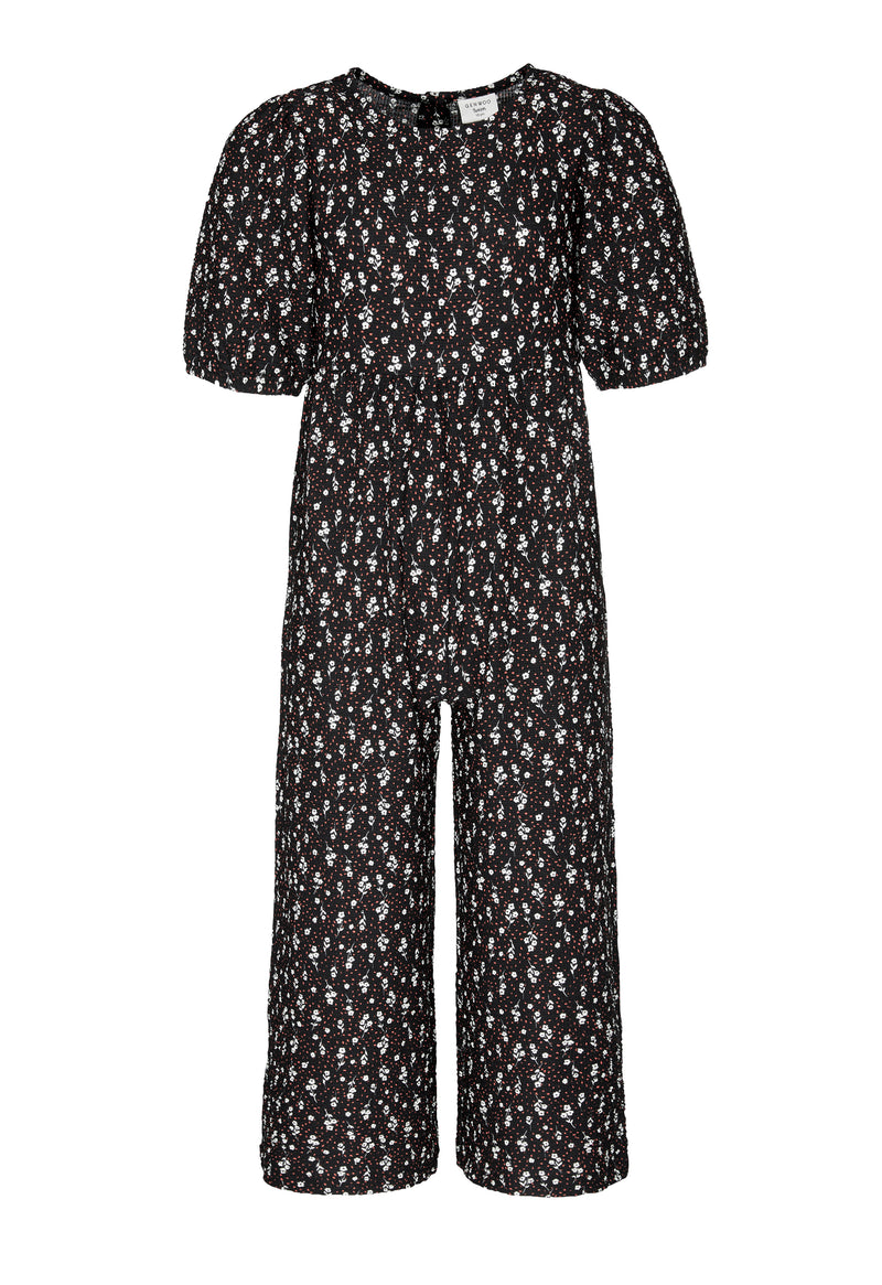 Shop for Gen Woo Tween Girls Ditsy Print Jumpsuit from The Jersey Shop Singapore