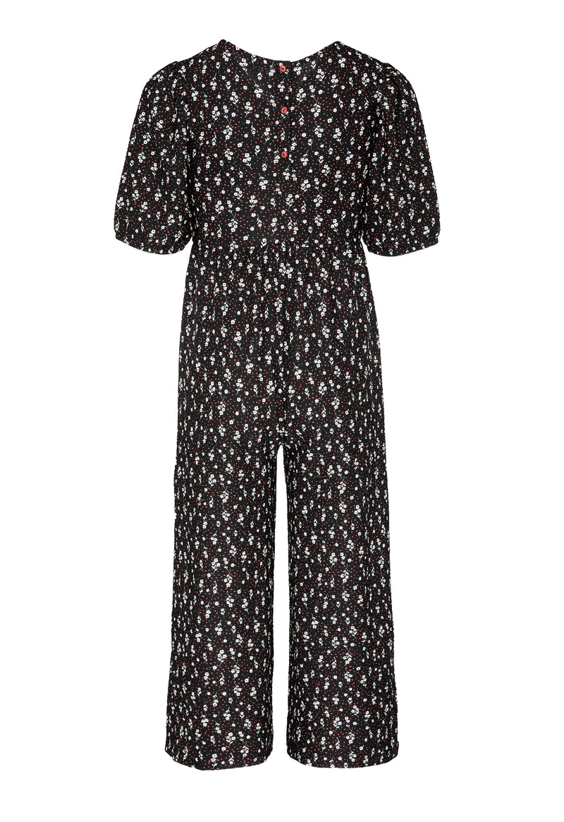 Gen Woo Tween Girls Ditsy Print Jumpsuit Fits Sizes 8 Years to 14 Years from The Jersey Shop Singapore