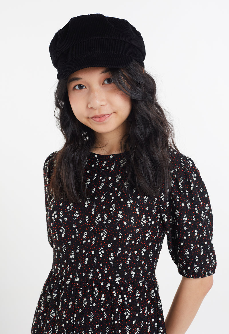 Gen Woo Tween Girls Black White & Red Ditsy Print Jumpsuit from The Jersey Shop Singapore