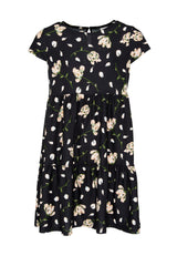Gen Woo Tween Girls Floral Print A-line Tiered Dress Fits Sizes 8 Years to 14 Years from The Jersey Shop Singapore