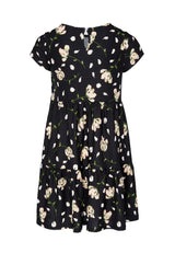 Shop for Gen Woo Tween Girls Floral Print A-line Tiered Dress from The Jersey Shop Singapore