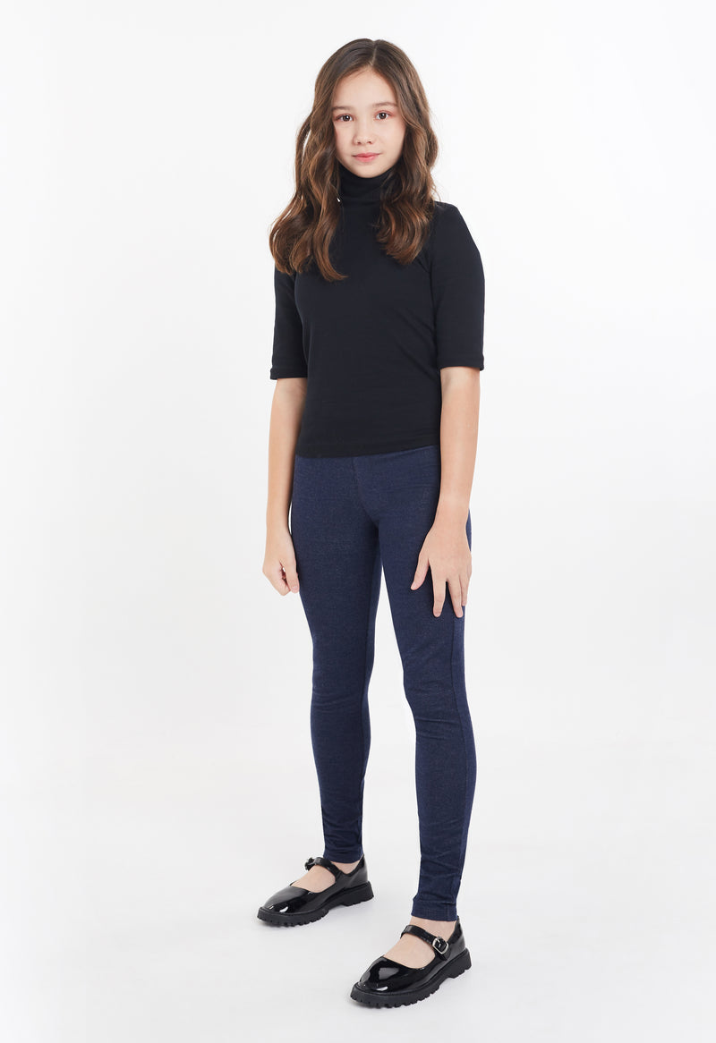 Gen Woo Girls Denim Basic Jegging for The Jersey Shop Singapore
