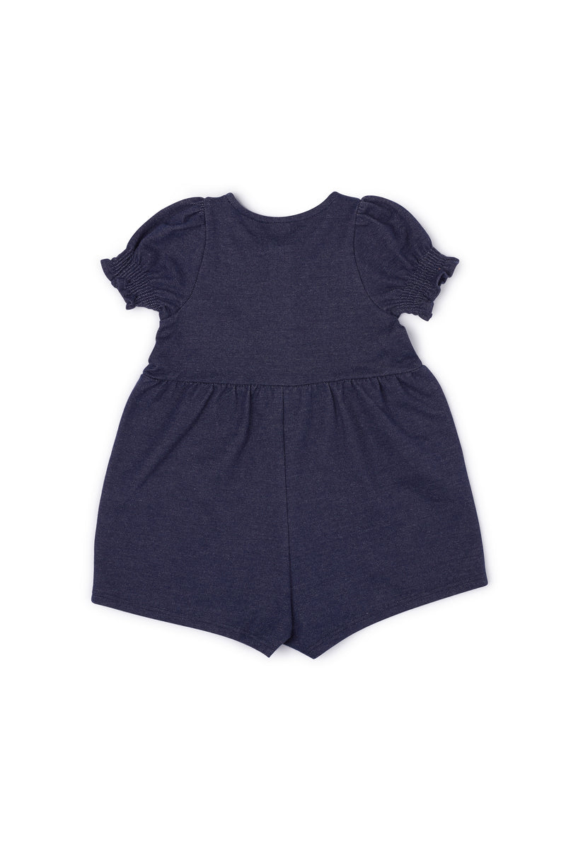 Gen Woo Baby Girl Denim Romper Fits Sizes 0 Months to 36 Months for The Jersey Shop Singapore