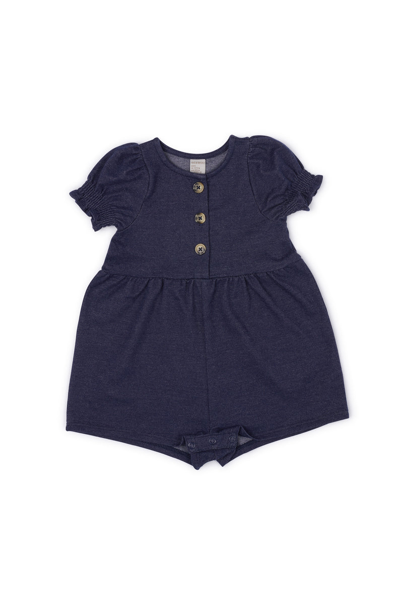 Gen Woo Baby Girl Denim Romper with Buttons for The Jersey Shop Singapore
