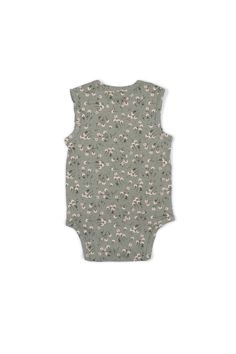 Shop for Gen Woo Baby Girls Green Ditsy Print Flutter Baby-grow from The Jersey Shop Singapore