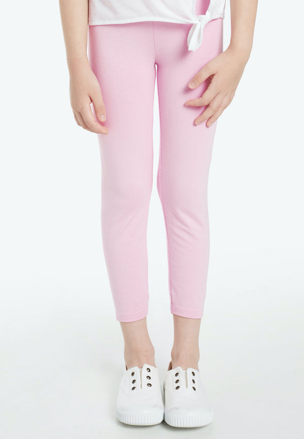 Gen Woo Girls Pink Basic Legging for The Jersey Shop Singapore